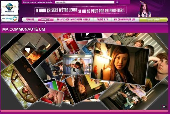 Universal Mobile lance son site communautaire
